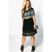 Boohoo Womens Plus Retro Print Smock Dress - Black - 22, Black Pzz96134105350 Womens Dresses & Skirts, Black