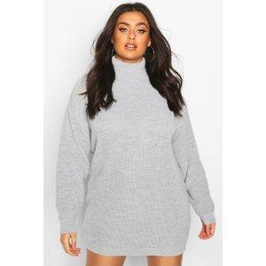 Boohoo Womens Plus Roll Neck Jumper Dress - Grey - 22, Grey Pzz67697163350 Womens Dresses & Skirts, Grey