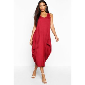 Boohoo Womens Racer Back Ruched Maxi Dress - Red - S/m, Red Fzz6037910431 Womens Dresses & Skirts, Red