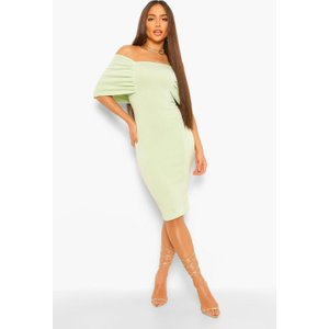 Boohoo Womens Raglan Angel Sleeve Midi Dress - Green - 8, Green Fzz4934620916 Womens Dresses & Skirts, Green