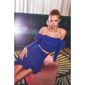 Boohoo Womens Recycled Scruched Hem Mini Skirt - Blue - 6, Blue Fzz7265611914 Womens Dresses & Skirts, Blue