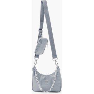 Boohoo Womens Reflective Edge Nylon Multiway Cross Body Bag - Grey - One Size, Grey Fzz4887613135 Bags, Grey