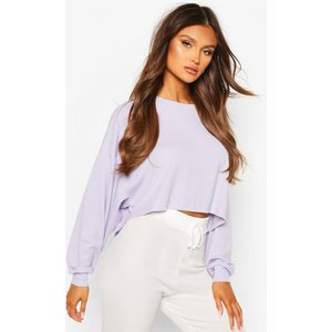 Boohoo Womens Ribbed Oversized Lounge Sweat - Purple - 10, Purple Nzz8893813718 Womens Trousers, Purple