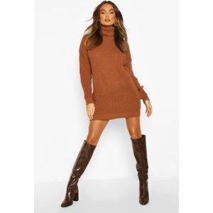 Boohoo Womens Roll Neck Jumper Dress - Beige - S, Beige Fzz8518716930 Womens Dresses & Skirts, Beige