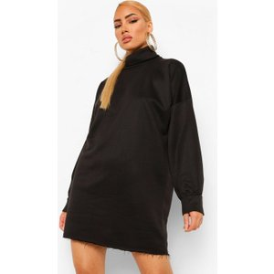 Boohoo Womens Roll Neck Jumper Dress - Black - 14, Black Fzz0392610522 Womens Dresses & Skirts, Black