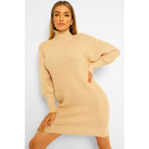 Boohoo Womens Roll/polo Neck Fisherman Knit Dress - Beige - L, Beige Fzz5480316534 Womens Dresses & Skirts, Beige