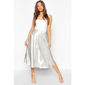 Boohoo Womens Satin Full Midi Skirt - Tan - 14, Tan Fzz8582059222 Womens Dresses & Skirts, Tan