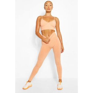 Boohoo Womens Seamless Gym Leggings - Orange - M, Orange Fzz6028615256 Womens Trousers, Orange