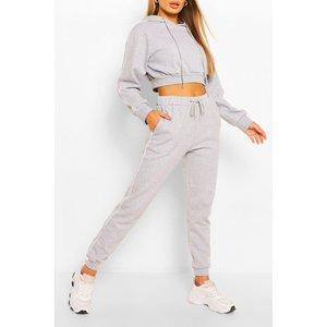 Boohoo Womens Side Stripe Crop Hoody Tracksuit - Grey - 14, Grey Fzz6034026522 Womens Sportswear, Grey