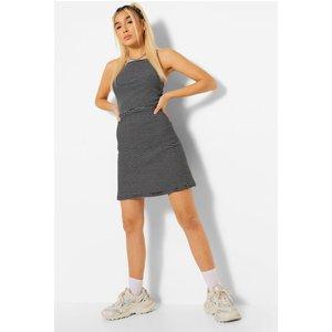 Boohoo Womens Square Neck Strappy Mini Dress - Black - 12, Black Fzz5264210520 Womens Dresses & Skirts, Black