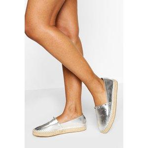 Boohoo Womens Stud Detail Espadrille Flatform - Grey - 5, Grey Fzz5839616313 Womens Footwear, Grey