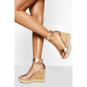 Boohoo Womens Studded 2 Part Wedges - Metallics - 6, Metallics Fzz6132236414 Womens Footwear, Metallics