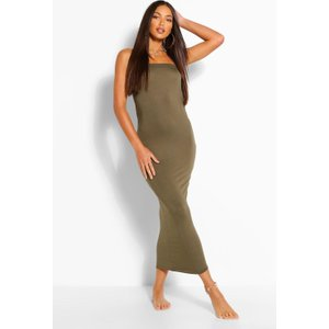Boohoo Womens Tall Bandeau Midaxi Dress - Green - 10, Green Tzz9243113518 Womens Dresses & Skirts, Green