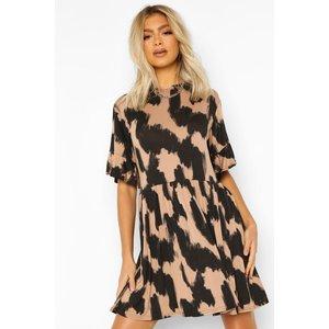 Boohoo Womens Tall Leopard Print Smock Dress - Brown - 8, Brown Tzz9168510916 Womens Dresses & Skirts, Brown