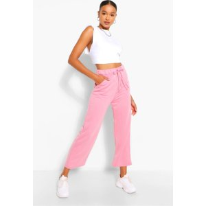 Boohoo Womens Tall Loopback Culotte Pocket Sweat Trousers - Pink - 8, Pink Tzz9207915516 Womens Trousers, Pink