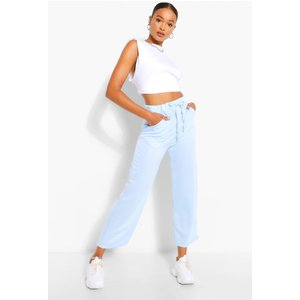 Boohoo Womens Tall Loopback Culotte Pocket Sweat Trousers - Blue - 18, Blue Tzz9207910651 Womens Trousers, Blue