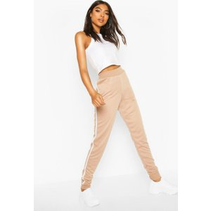 Boohoo Womens Tall Side Stripe Joggers - Beige - 10, Beige Tzz9330616518 Womens Trousers, Beige