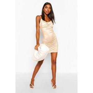 Boohoo Womens Tall Slinky Leopard Print Dress - Brown - 16, Brown Tzz9286310924 Womens Dresses & Skirts, Brown