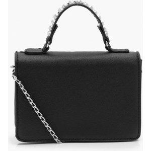 Boohoo Womens Textured Pu Pearl Handle Cross Body Bag - Black - One Size, Black Fzz7233410535 Womens Accessories, Black