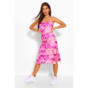 Boohoo Womens Tie Dye Strappy Midi Slip Dress - Pink - 8, Pink Fzz5095715516 Womens Dresses & Skirts, Pink