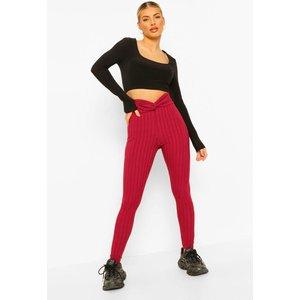 Boohoo Womens Twist Front Legging - Purple - 8, Purple Fzz4723920416 Womens Trousers, Purple