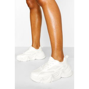 Boohoo Womens Wave Chunky Sole Trainers - White - 8, White Fzz5069217316 Womens Footwear, White