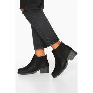 Boohoo Womens Wide Fit Basic Chelsea Boots - Black - 7, Black Fzz7449010515 Womens Footwear, Black