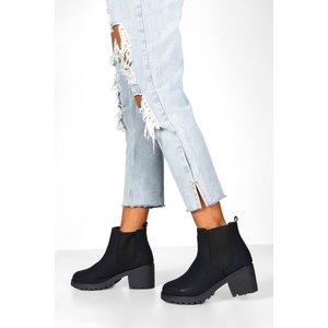 Boohoo Womens Wide Fit Chunky Elastic Chelsea Boots - Black - 7, Black Fzz8538210515 Womens Footwear, Black