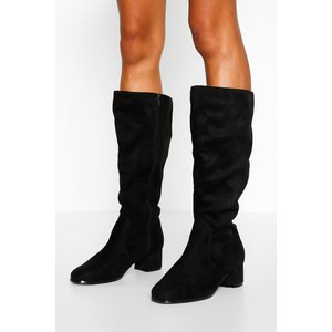 Boohoo Womens Wider Calf Wide Fit Knee High Boots - Black - 7, Black Fzz7323610515 Womens Footwear, Black