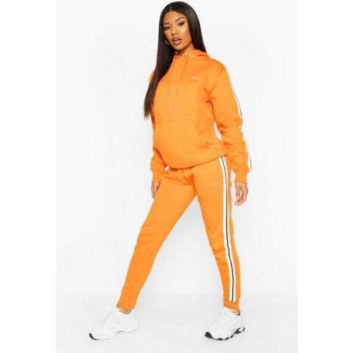 Boohoo Womens Woman Side Stripe Hoodie Tracksuit - Orange - 10, Orange Fzz6952315218 Womens Sportswear, Orange