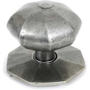 From the Anvil Blacksmith Pewter Patina Octagonal Centre Door Knob - Internal  D4980
