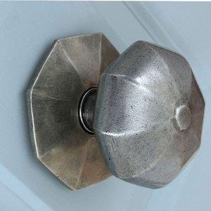 From The Anvil Blacksmith Pewter Patina Octagonal Centre Door Knob - External  D4334