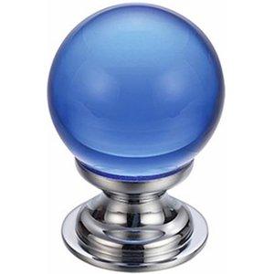 Fulton Bray Blue Glass Cabinet Knob  F4608