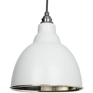 From the Anvil Brindley Pendant - Light Grey Exterior And Hammered Nickel Interior  J5143