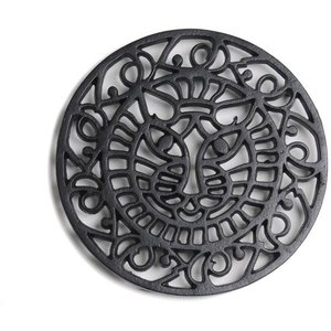 Cast In Style Cats Face Trivet - Heat Resistant For Wood Burning Stoves  M3874