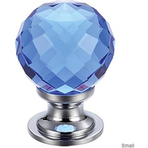 Fulton Bray Facetted Blue Glass Cabinet Knob  F4614