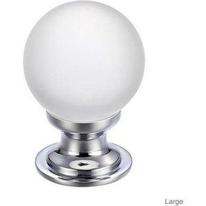 Fulton Bray Frosted Glass Cabinet Knob  F4618