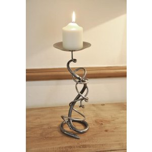 Cast In Style Hand Forged Single Tangle Candle Holder  J3623
