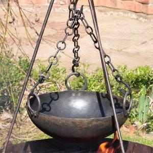 Kadai Fire Bowls Kadai Cooking Bowl With 3 Chains  J2861
