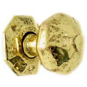 Kirkpatrick 3056/b Brass Rustic Octagon Door Knob  D1849