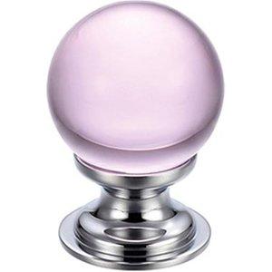 Fulton Bray Pink Glass Cabinet Knob  F4611