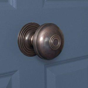 From The Anvil Prestbury Centre Door Knob - Aged Bronze  D4670