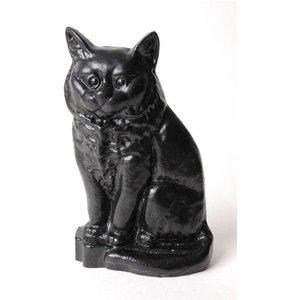 Cast In Style Small Black Cat Door Stop  G13