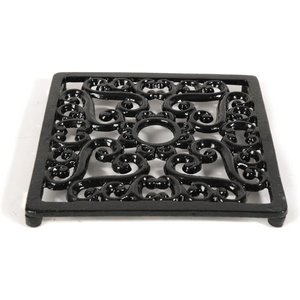 Cast In Style Square Trivet - Heat Resistant For Woodburning Stoves  M4300
