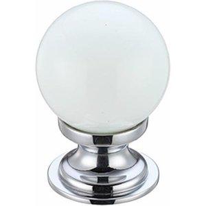 Fulton Bray White Glass Cabinet Knob  F4613