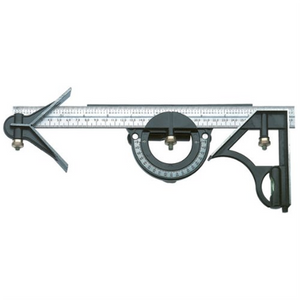 C.k Tools 3-in-1 Carpenters Combination Square Ruler Angle Finder With Spirit Level  7058AWUK T3579