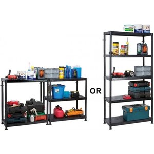 Garland 5 Shelf Self Assembly Plastic Shelving Unit  8927AWUK G09046