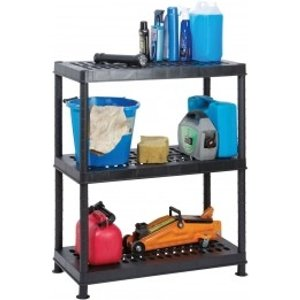 Garland Self Assembly Ventilated Plastic Shelving Unit - 3 Shelf  8924AWUK G08143B