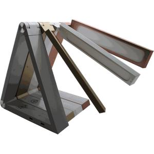 Greenhall Lighting Prism Adjustable Colour Temperature Triangular Desk Lamp - Silver  7113AWUK GHPS