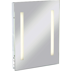 Knightsbridge Illuminated Bathroom Wall Mirror Ip44 Rated With Shaver Socket  2957AWUK RCTM2T8